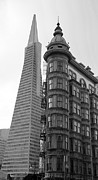 Sentinel Building Prints - Transamerica and Zoetrope Print by David Bearden