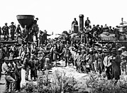 Meeting. Point Framed Prints - Transcontinental Railroad Framed Print by Underwood Archives