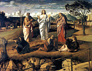 Religious Art Painting Posters - Transfiguration of Christ 1487 Giovanni Bellini Poster by Karon Melillo DeVega