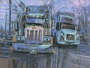 Truck Drawings Framed Prints - Transformers Framed Print by Donald Maier