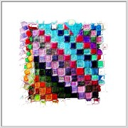 Multicolored Mixed Media Framed Prints - Transition Quilt Framed Print by Susan  Epps Oliver