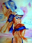 Athletes Painting Originals - Transition by Sandy Ryan