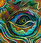Visionary Art Painting Prints - Transitional Spirit Eye Print by Deborha Kerr