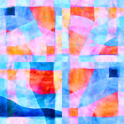 Watercolor! Art Photo Prints - Translucent Quilt Print by Carol Leigh