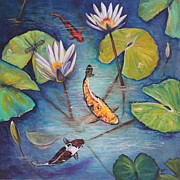Lily Pad Prints - Transparency Print by Eve  Wheeler