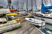 Docked Sailboat Prints - Transportation Print by Heidi Smith