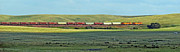 Transportation. Panorama With A Train. Print by Ausra Paulauskaite