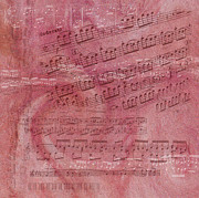 Music Score Digital Art Posters - Transported To Music Poster by Gina Dsgn