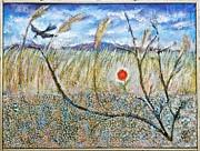 Ion vincent DAnu - Transylvanian Landscape with Crow