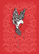 Dove Metal Prints - Trapped Metal Print by Budi Satria Kwan