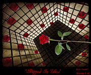 Floral Digital Art Originals - Trapped In Glass by Jessica Grandall