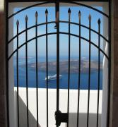 Isles Photos - Trapped On Santorini by Mel Steinhauer