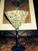 Food And Beverage Glass Art Metal Prints - Trashtistic Flow on Metal Print by Rodney Friend
