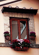 Trastevere Framed Prints - Trastevere Window Dressing Framed Print by John Rizzuto