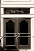 Painted Details Photo Framed Prints - TRATTORIA DOOR Palm Springs Framed Print by William Dey