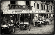 Waitress Photo Framed Prints - Trattoria in Venice  Framed Print by Madeline Ellis