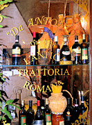 Cheeses Framed Prints - Trattoria Roma Framed Print by Caroline Stella