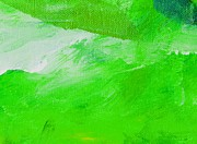 Emerald Green Abstract Paintings - Travail Emerald Green by L J Smith
