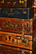 Luggage Metal Prints - Travel - Old Bags Metal Print by Paul Ward