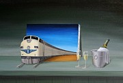 Wine Glasses Paintings - Traveler by Michel Sehstedt