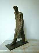 Realism  Sculpture Originals - Traveler by Nikola Litchkov