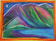 First Love Pastels Prints - Travelers Mountains by jrr Print by First Star Art