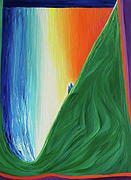 Library Painting Originals - Travelers Rainbow Waterfall by jrr by First Star Art