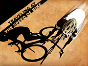 Traveling At The Speed Of Bike Print by Sassan Filsoof