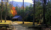 Cabins Prints - Traveling Back In Time Print by Karen Wiles