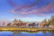 Sunriver Paintings - Traveling the Deschutes by Pat Cross
