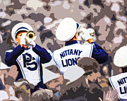 The Penn State Nittany Lions Prints - Traveling Trumpets Print by Gallery Three