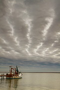 Storm Clouds Framed Prints - Trawler 2AM-109703 Framed Print by Andrew McInnes