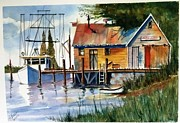 Trawler Metal Prints - Trawler at Rest  Metal Print by Richard Benson