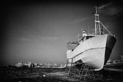 Trawler Metal Prints - Trawler in dry dock Metal Print by Jose Elias - Sofia Pereira