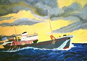 Trawler Paintings - Trawler by John Davis