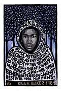 Racism Mixed Media Prints - Trayvon Martin Print by Ricardo Levins Morales