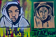 Free Speech Painting Prints - Trayvon Martin Print by Tony B Conscious