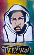 Obama Paintings - Trayvon Rasta by Tony B Conscious