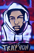 Free Speech Painting Framed Prints - Trayvons America Framed Print by Tony B Conscious