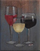 Vintner Paintings - Tre Vini by Robert Sesco
