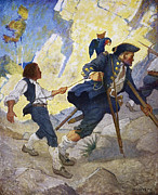 N.C. Wyeth Posters - Treasure Island 1911 Poster by Granger