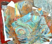 Samuel Mixed Media Framed Prints - Treasures From The Oceans and Above Framed Print by Beena Samuel