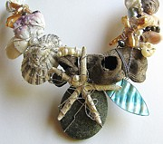 Wire-wrapped Jewelry Originals - Treasures Of The Sea by Tareen Rayburn