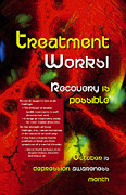 Bipolar Digital Art Posters - Treatment Works Poster by Chuck Mountain