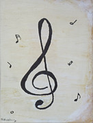 Music Symbols Posters - Treble Cleft Poster by Martin Blakeley