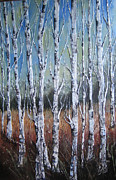  With Acrylics Mixed Media - Tree 11 by Charlotte Hastings