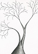 Fine Art Abstract Drawings Drawings Originals - Tree 15 - Grand Entrance by Chris Bishop