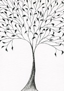Fine Art Abstract Drawings Drawings Originals - Tree 6 - Simply Grandiose   by Chris Bishop