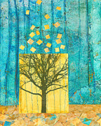 Artists Mixed Media Posters - Tree Collage Poster by Ann Powell