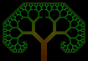 Shrooms Digital Art - Tree Fractal by Chris Tetreault
